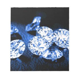 青いダイヤモンド ノートパッド