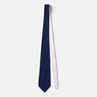 青いダッシュ及び点 オリジナルネクタイ