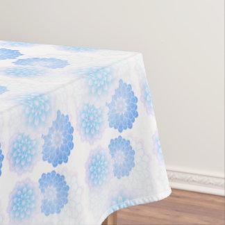青いダリア、かわいらしいテーブルクロス テーブルクロス