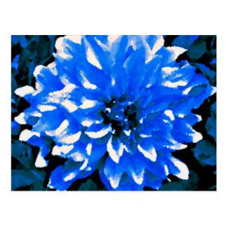 青いダリア ポストカード