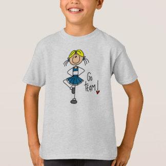 青いチアリーダー Tシャツ