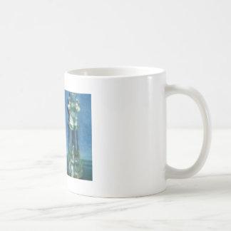 青いチェスのマグ コーヒーマグカップ