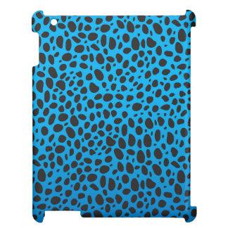 青いチータのプリントのiPadの箱 iPadカバー
