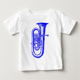 青いテューバ ベビーTシャツ