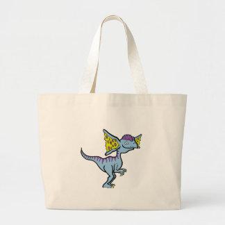 青いディロフォサウルス ラージトートバッグ