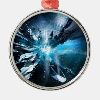 青いデザインのコレクション メタルオーナメント