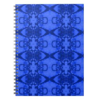 青いデザインのノート ノートブック