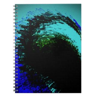 青いデザイン ノートブック