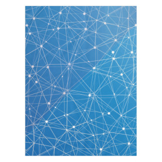 青いデジタル通信網 テーブルクロス