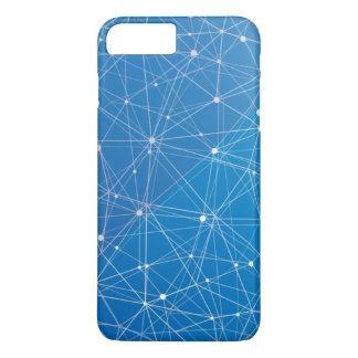 青いデジタル通信網 iPhone 8 PLUS/7 PLUSケース