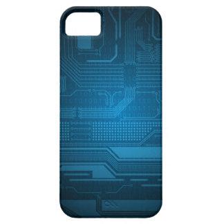 青いデジタル2進符号の技術のスタイル iPhone SE/5/5s ケース