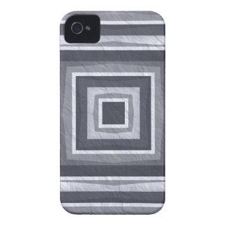 青いデニムおよび銀 Case-Mate iPhone 4 ケース