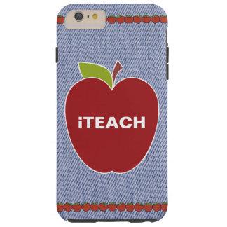 青いデニムの一見の先生のiPhone 6のプラスの場合 Tough iPhone 6 Plus ケース