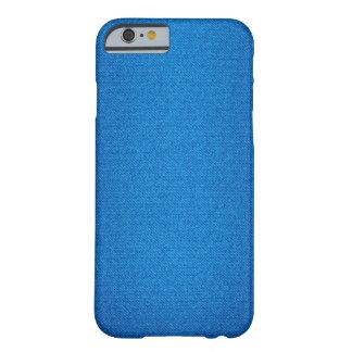 青いデニムの質のiPhoneの箱 Barely There iPhone 6 ケース