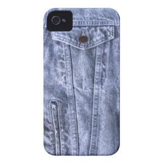 青いデニムの~のブラックベリーのはっきりしたな穹窖 Case-Mate iPhone 4 ケース