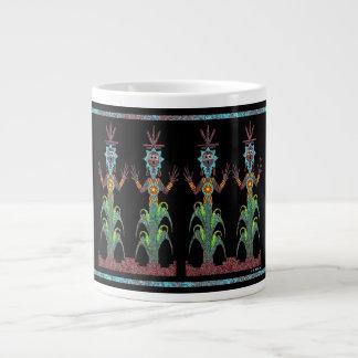 青いトウモロコシの人々 ジャンボコーヒーマグカップ