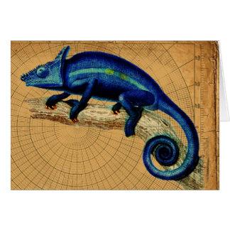 青いトカゲ カード