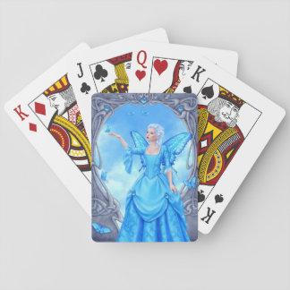 青いトパーズのBirthstoneの妖精のクラシックなトランプ トランプ