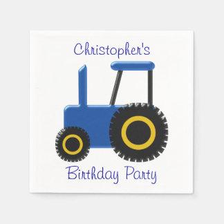 青いトラクターの誕生日 スタンダードカクテルナプキン