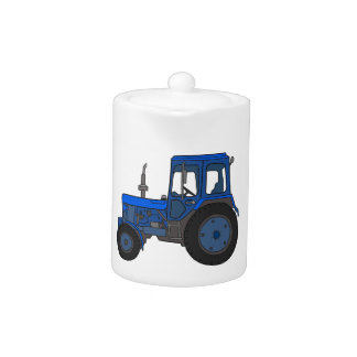 青いトラクター