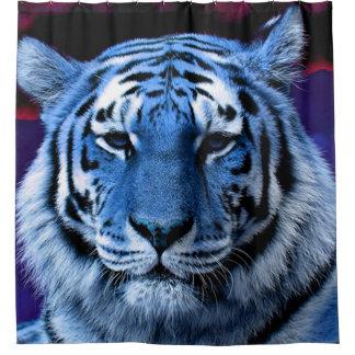 青いトラ シャワーカーテン