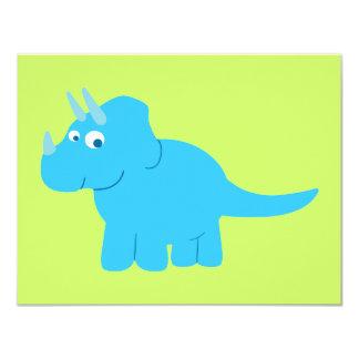 青いトリケラトプスの恐竜 カード