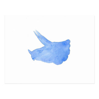 青いトリケラトプスの頭部 ポストカード