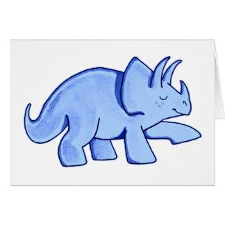 青いトリケラトプス カード