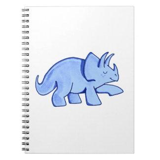 青いトリケラトプス ノートブック