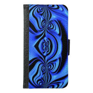 青いトレンディーのカッコいいの芸術 GALAXY S6 ウォレットケース