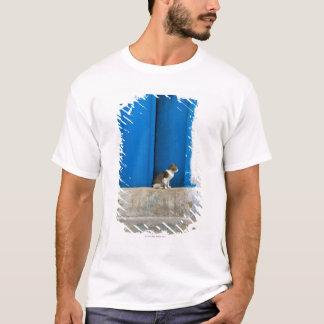 青いドア、Kairouan、チュニジア、アフリカ Tシャツ