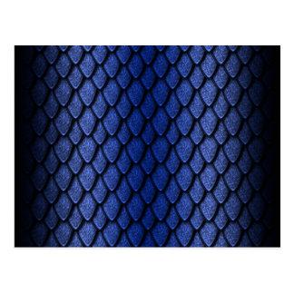 青いドラゴンのスケール ポストカード