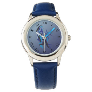 青いドラゴンの火 腕時計