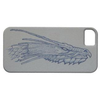 青いドラゴンの頭部の電話箱 iPhone SE/5/5s ケース