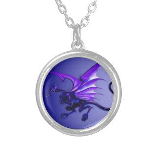 青いドラゴン シルバープレートネックレス