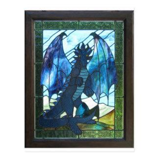 青いドラゴン ポストカード