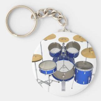 青いドラムキット: キーホルダー