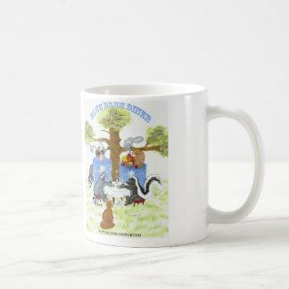 青いドラムダイナーのマグ コーヒーマグカップ