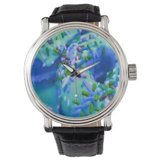 青いドーナツの腕時計 ウォッチ