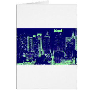 青いニューヨークシティ カード