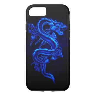"""青いネオンドラゴン""""DRAGA """" iPhone 7ケース"""