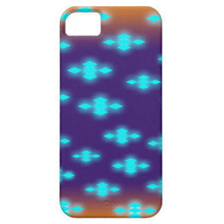 青いネオンパターンとのiPhoneの場合 iPhone SE/5/5s ケース