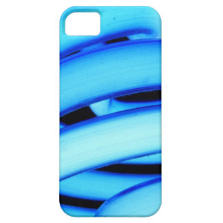 青いネオン巻き毛CFLの球根 iPhone SE/5/5s ケース