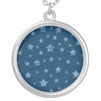 青いネックレスのブルースター シルバープレートネックレス