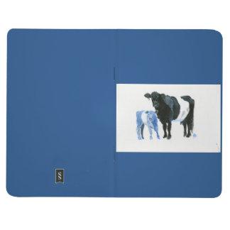 青いノートの陰の牛そして子牛 ポケットジャーナル