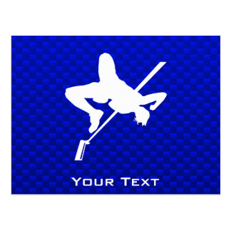 青いハイジャンプ ポストカード