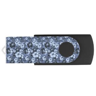 青いハイビスカスの花カスタマイズ可能なUSBのフラッシュドライブ USBフラッシュドライブ