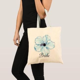 青いハイビスカスの芸術の熱帯花嫁のトートバック トートバッグ