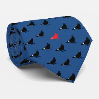 青いハトタイ オリジナルネクタイ
