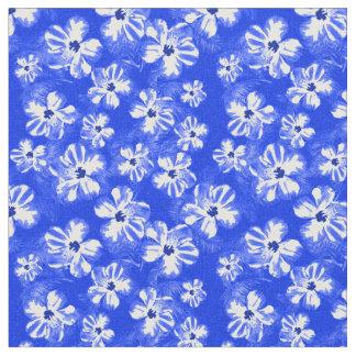 青いハワイのハイビスカスの花 ファブリック